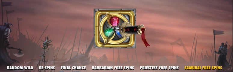 Bonus och free spins i Warlords: Crystals of Power